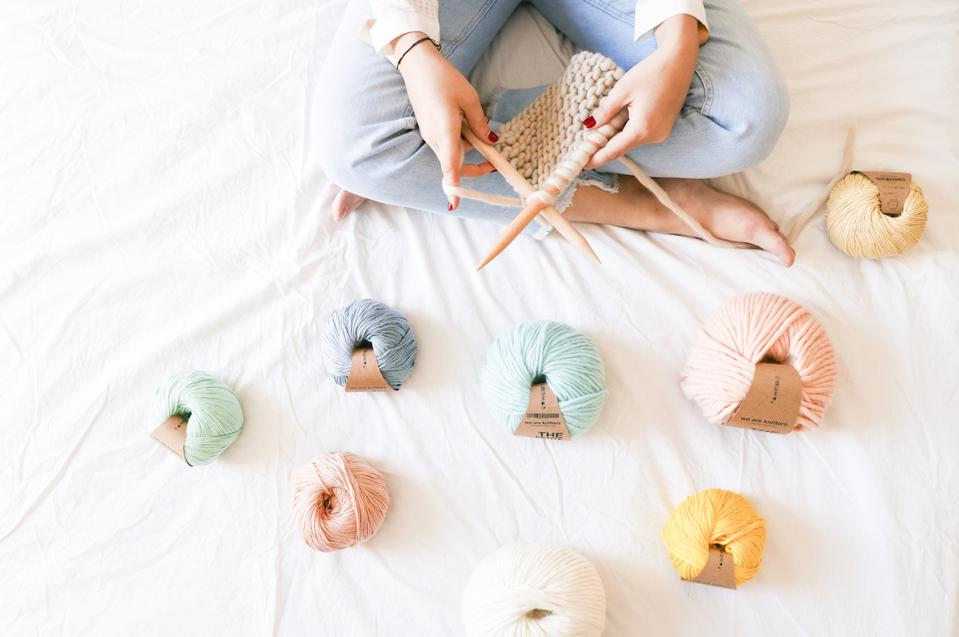 It's soothing just to look at We Are Knitters' pastel colored yarns.