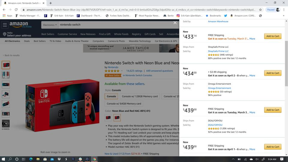 Nintendo Switch Amazon Sold Out