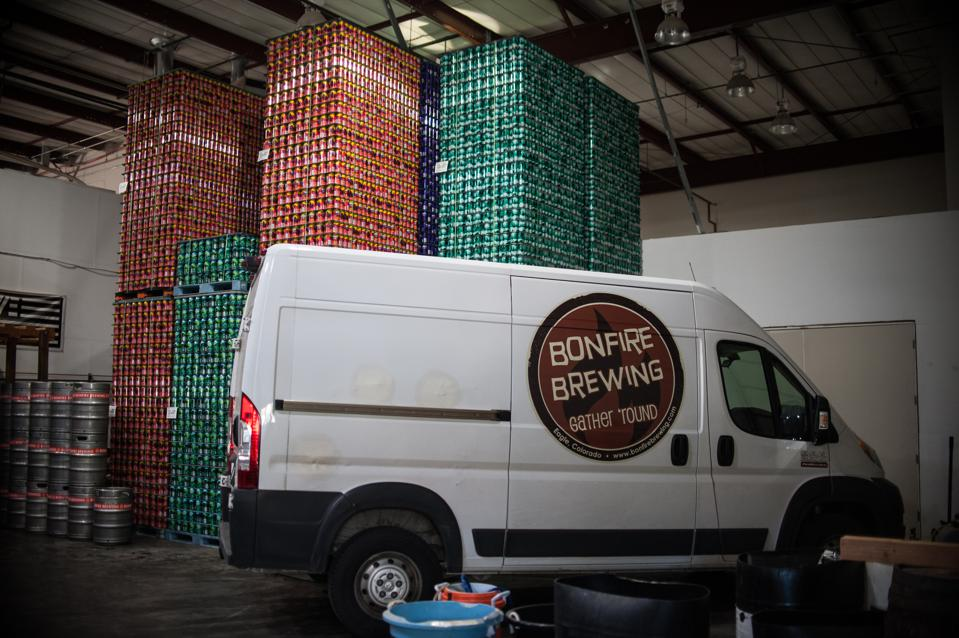 Bonfire Brewing in Eagle, Colorado, which annually hosts a major music event called the Bonfire Block Party, is delivering its beers to homes during the coronavirus crisis.