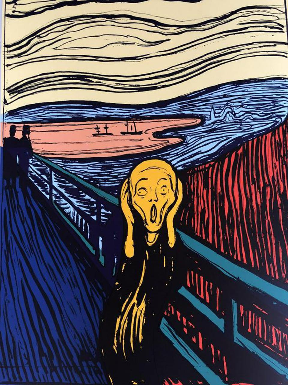 Andy Warhol, ″The Scream (After Munch)″, serigraph