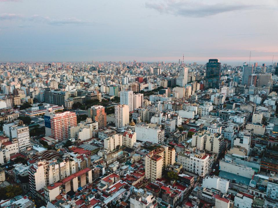 buenos aires city aerial