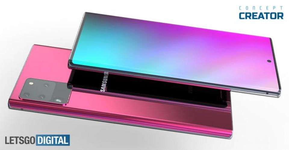 Galaxy Note 20 concept images (Lets Go Digital / Concept Creator)