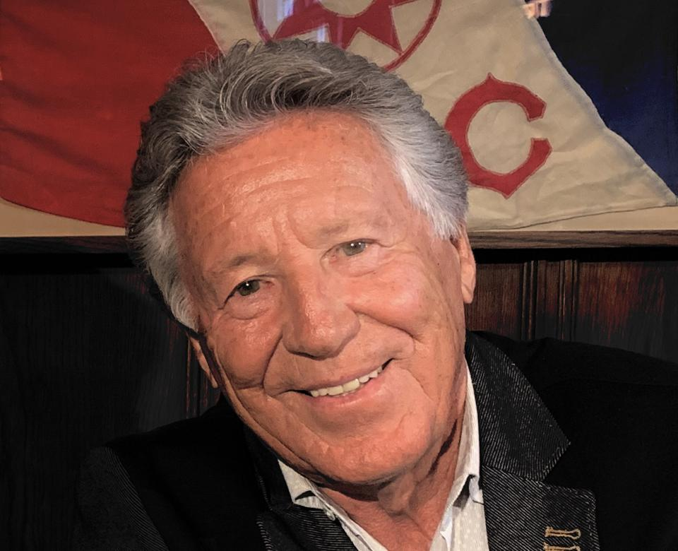 Mario Andretti at The Explorers Club in NYC (2019) after being interviewed by Jim Clash for his ″Exploring Legends″ series.