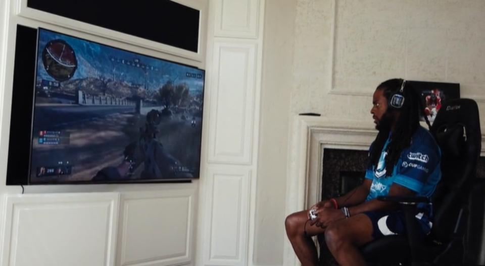Richard Sherman is an avid 'Call of Duty' player and moonlights as a shareholder and ambassador for Enthusiast Gaming.
