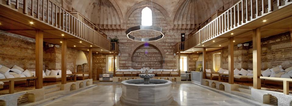 Interior of Istanbul Hammam