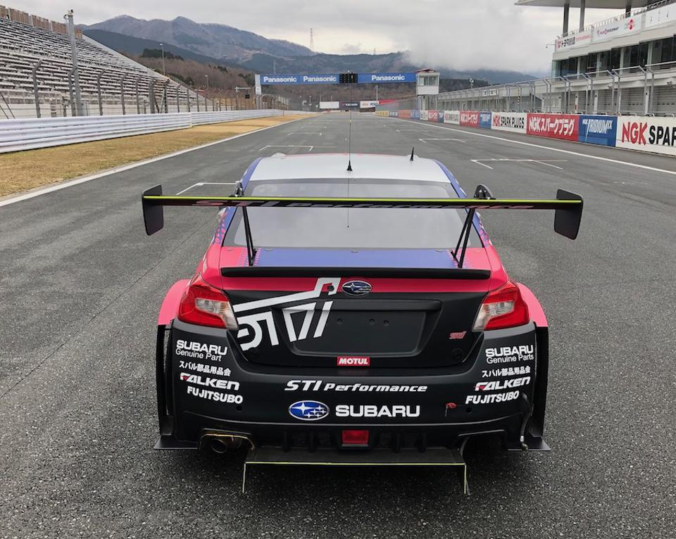 Team staff tried various rear wing angles during the test to find the best combination of top end speed and drag.