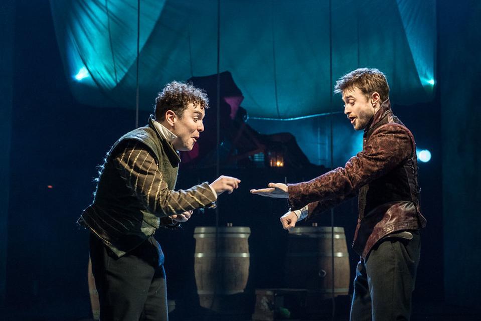 Daniel Radcliffe and Joshua McGuire in Rosencrantz and Guildenstern Are Dead