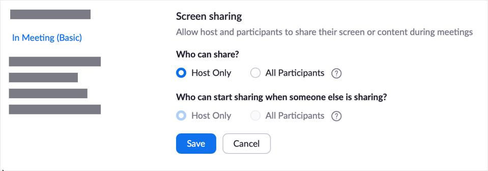 Zoom Screen Sharing