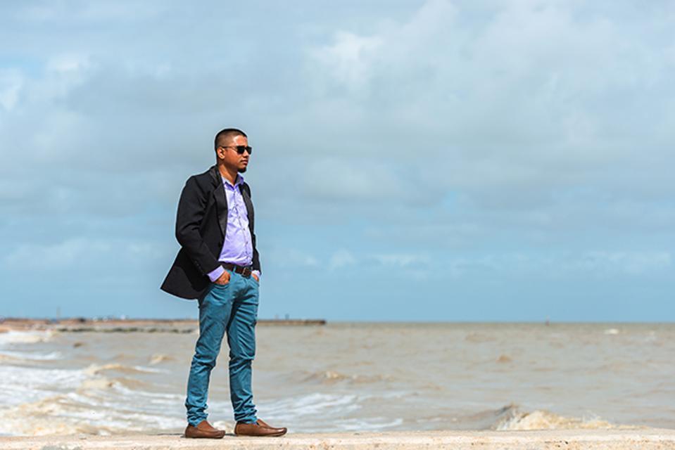 Anton Kwang at beach