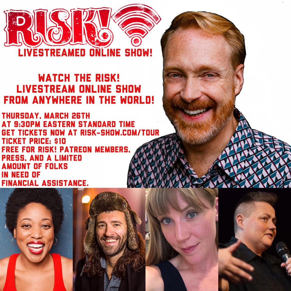 The Risk! storytelling show was live-streamed over the internet