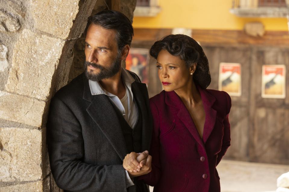 Rodrigo Santoro and Thandie Newton star in Westworld season 3, in ″War World.″