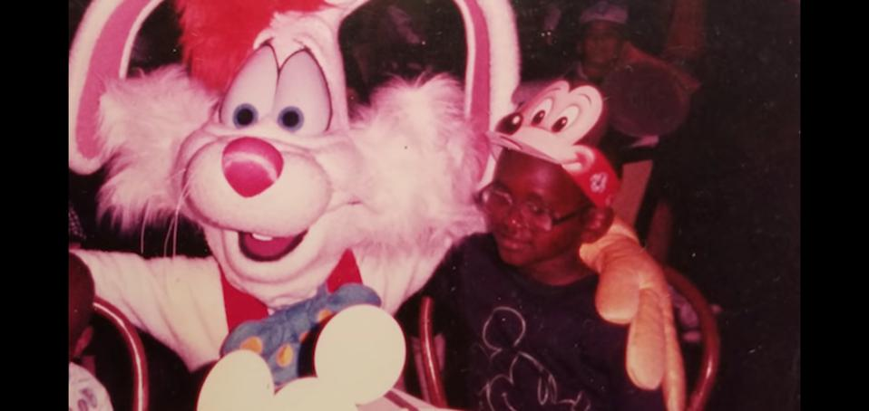 Harold O'Neal with Roger Rabbit.