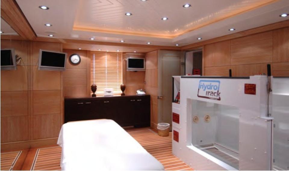 Superyacht Al Salamah hospital room