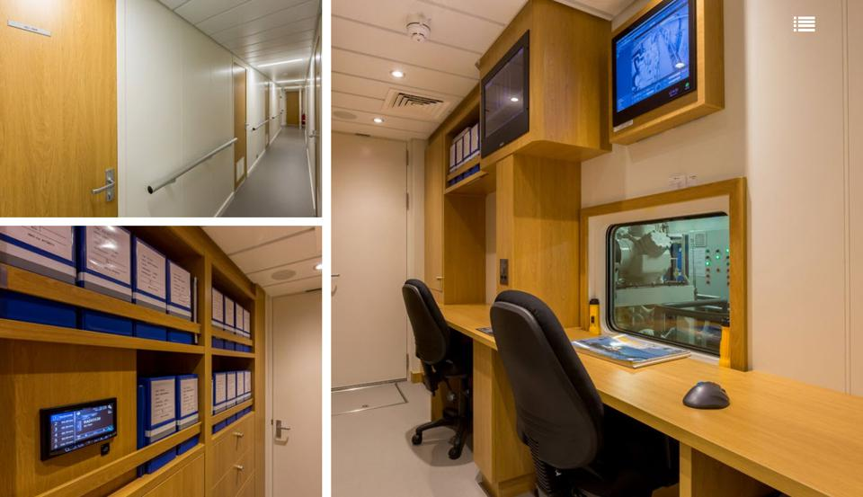 SOLAS approved medical room aboard the support vessel GAME CHANGER