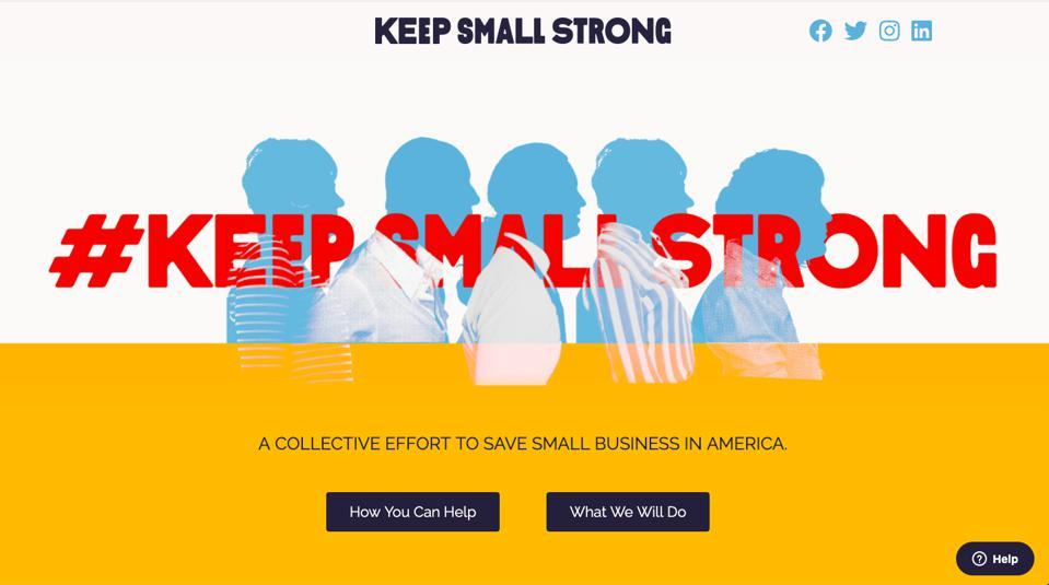 The home page of KeepStrongSmall.org.