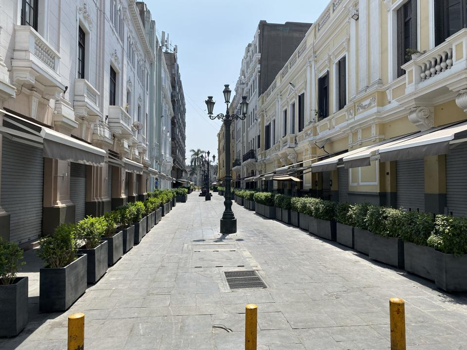 Empty streets of Perù during the COVID-19 outbreak