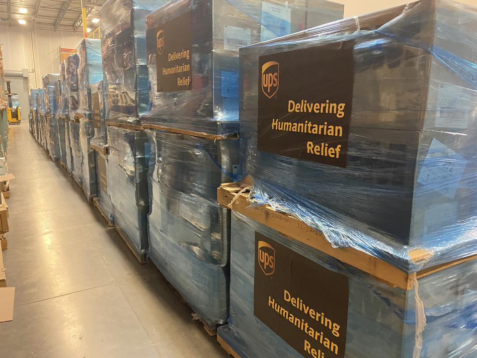 Coronavirus relief shipment for Wuhan.