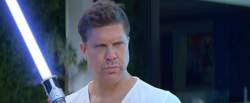 Broker Fredrik Eklund stars as a good force in ″May the Sale Be With You″ a Star Wars spoof.
