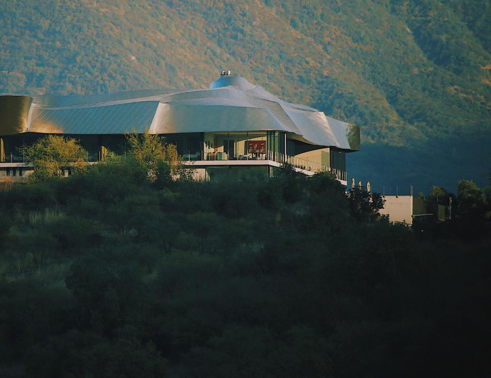 Vik Chile is a space aged titanium confection in a secluded valley in Chile.