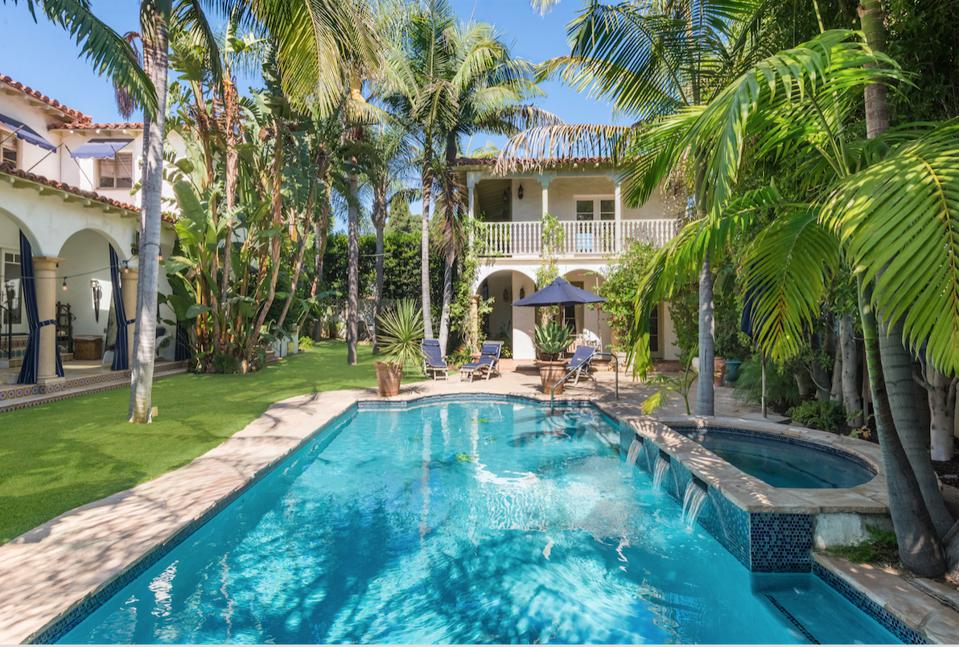Ronson's estate included a pool, spa and a two--story guest house.