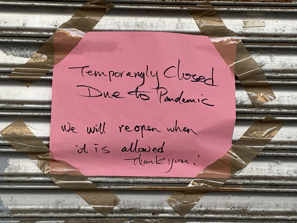 Many restaurants opted to close during the COVID-19 pandemic