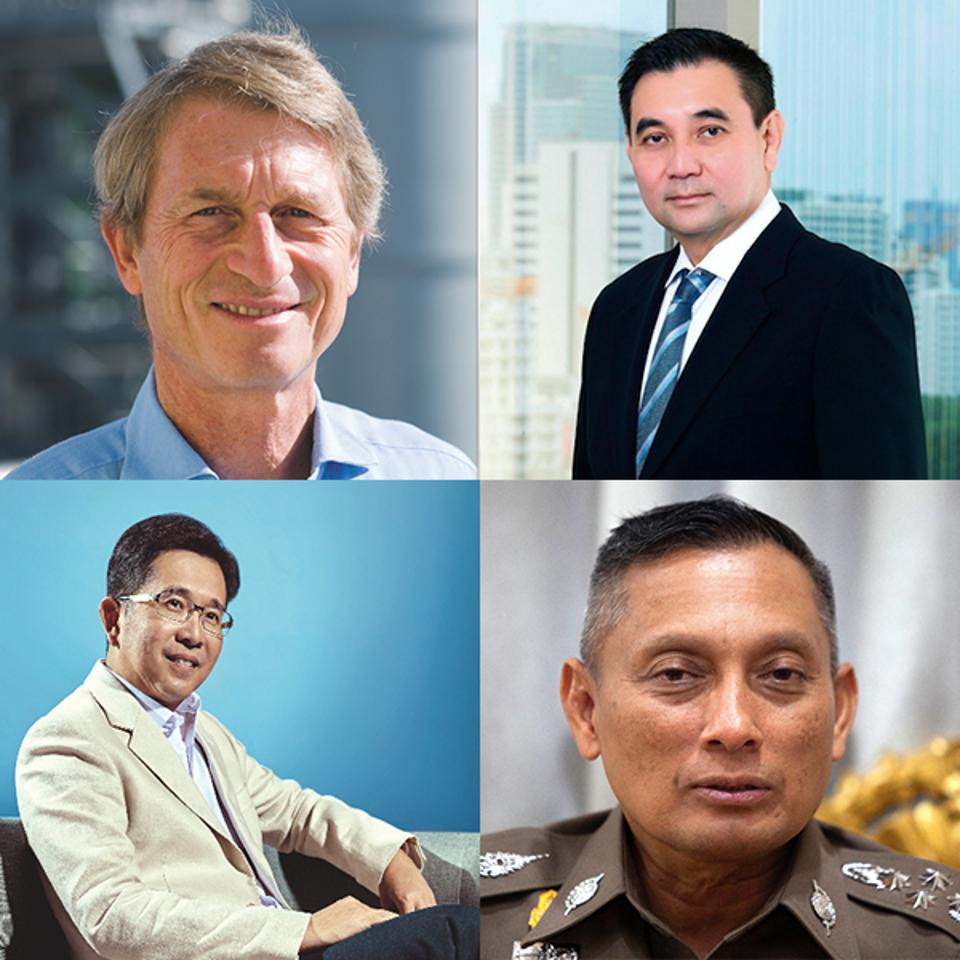 Clockwise from top left: Harald Link of B.Grimm, Sarath Ratanavadi of Gulf Energy, Wirachai Songmetta of Absolute Clean Energy and Somphote Ahunai of Energy Absolute