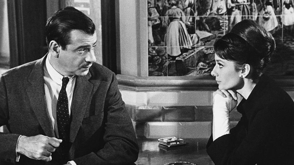 Walter Matthau and Audrey Hepburn in Charade