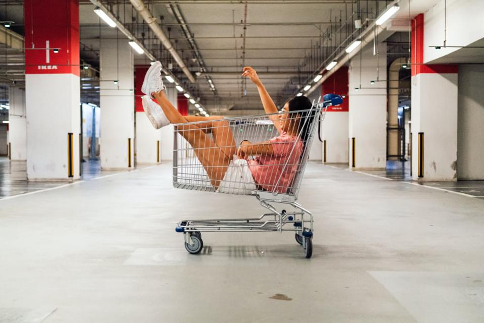 Shopping carts are empty now, except for the digital ones