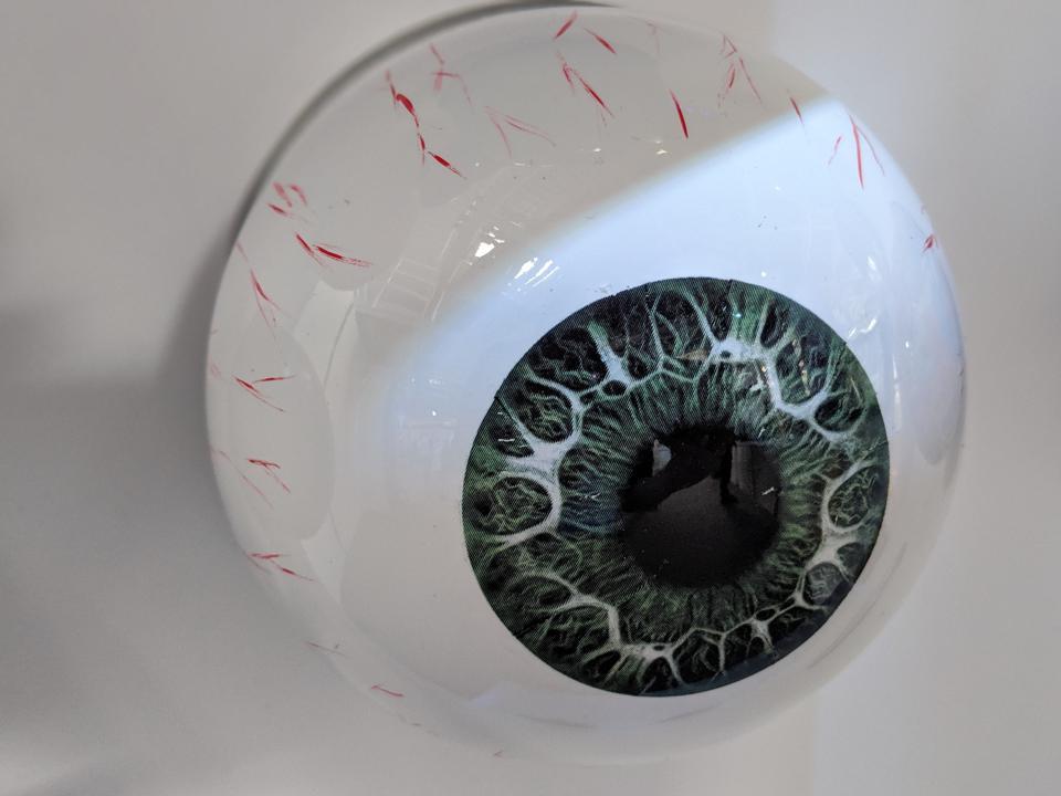 3D printed eyeball finished with great detail