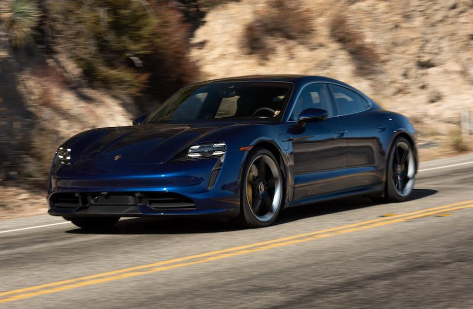 The Porsche Taycan could potentially pick up three awards.