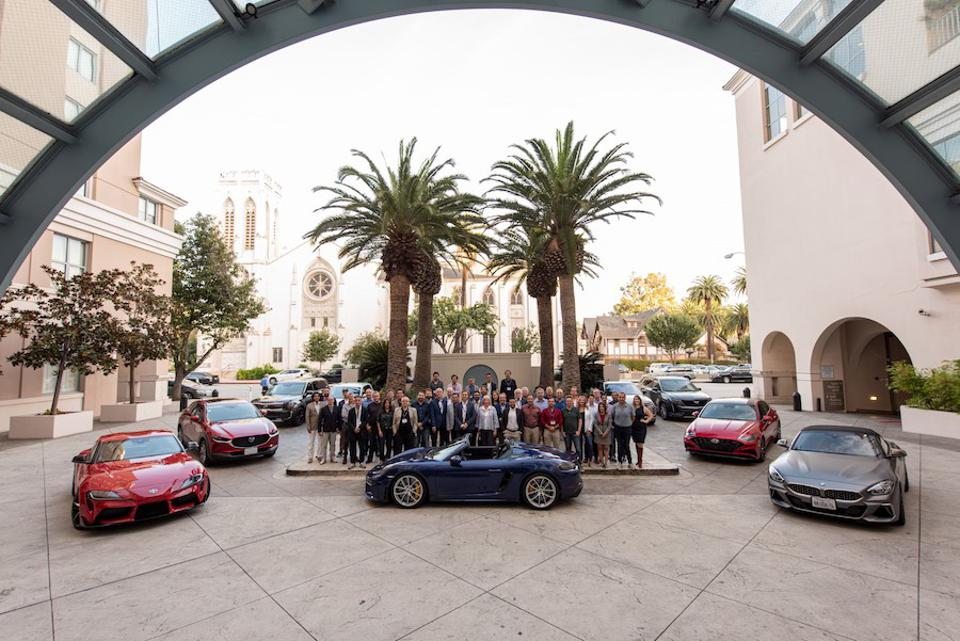 Over half of the WCA's 86 jurors gathered in Los Angeles last November to test drive some 25 contender cars.