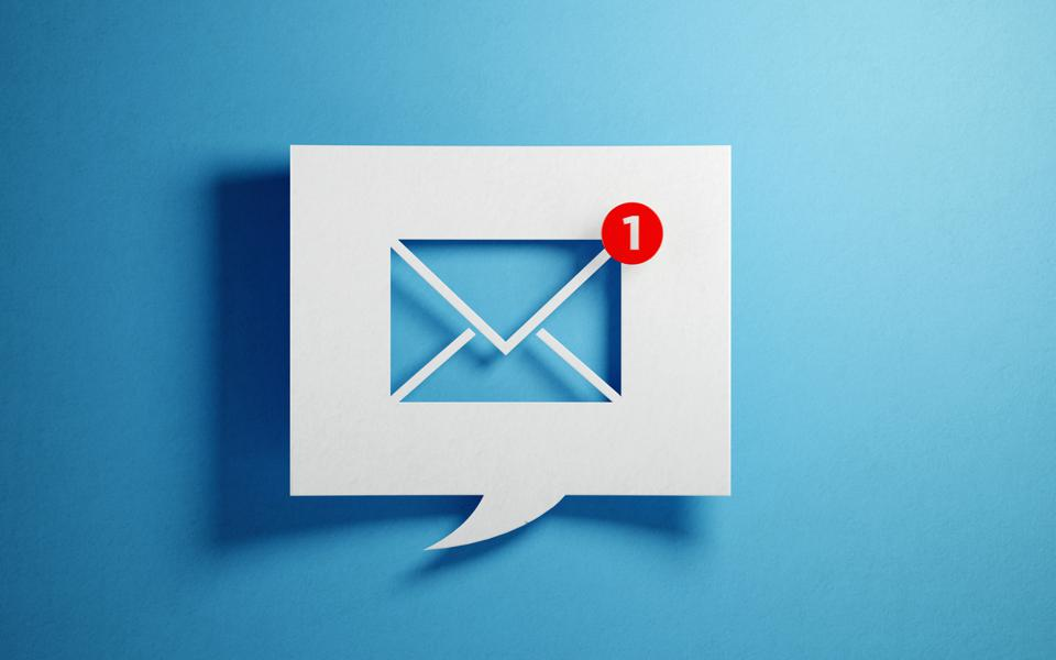 Image of email message notification
