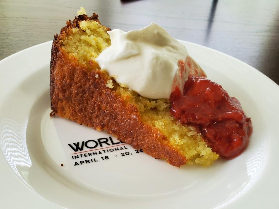 olive oil cake on plate