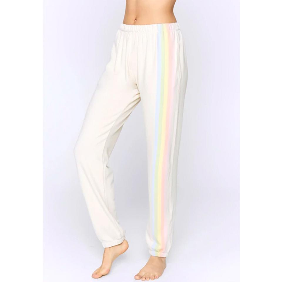 Spiritual Gangster Striped Malibu Nights Hacci Sweatpant