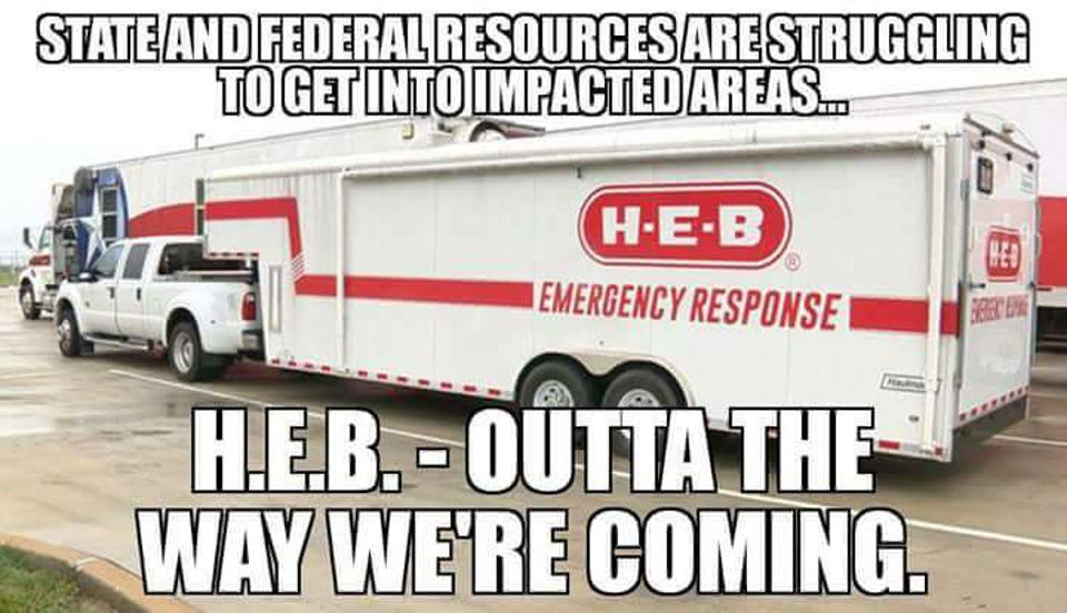 H-E-B Emergency Response Truck - ″Outta the way, we're coming.″