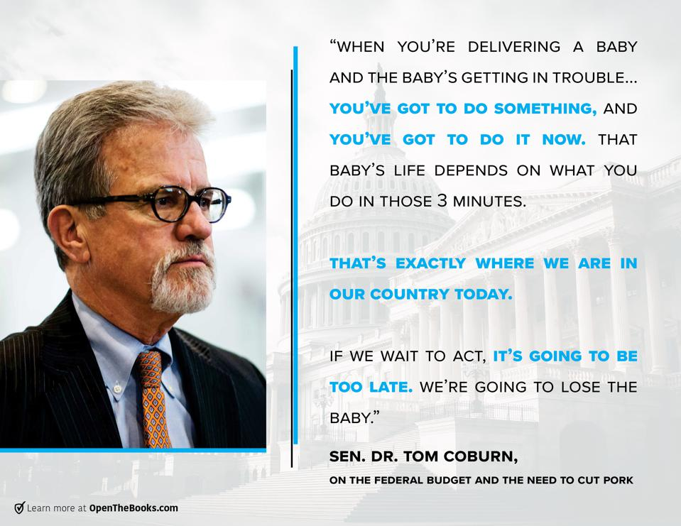 Dr. Tom Coburn's 3-Minute Warning To America