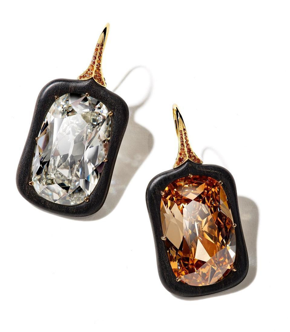 2020 Black Label Masterpiece VIII Ebony Diamond Earrings by Cindy Chao