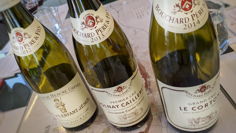 2012, 2013 and 2014 Bouchard Père & Fils Wines