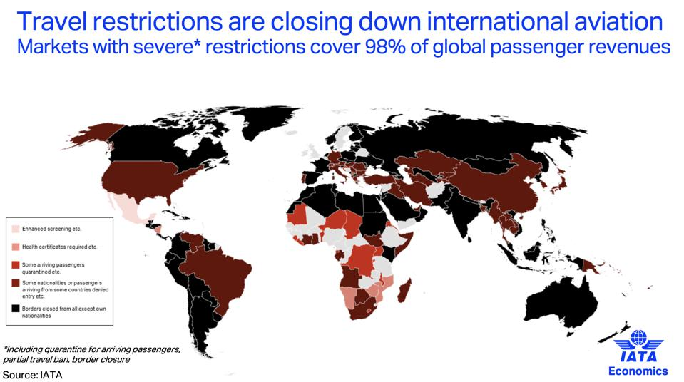 travel bans coronavirus worldwide bring air travel to grinding halt