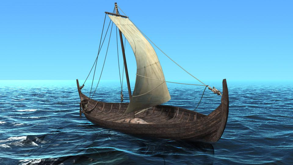 An illustration of the Tune Viking Ship by 7reasons