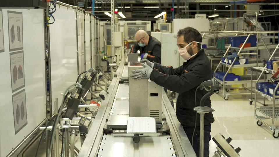 Medical COVID-19 ventilators being made by Seat at the Martorell facility in Spain