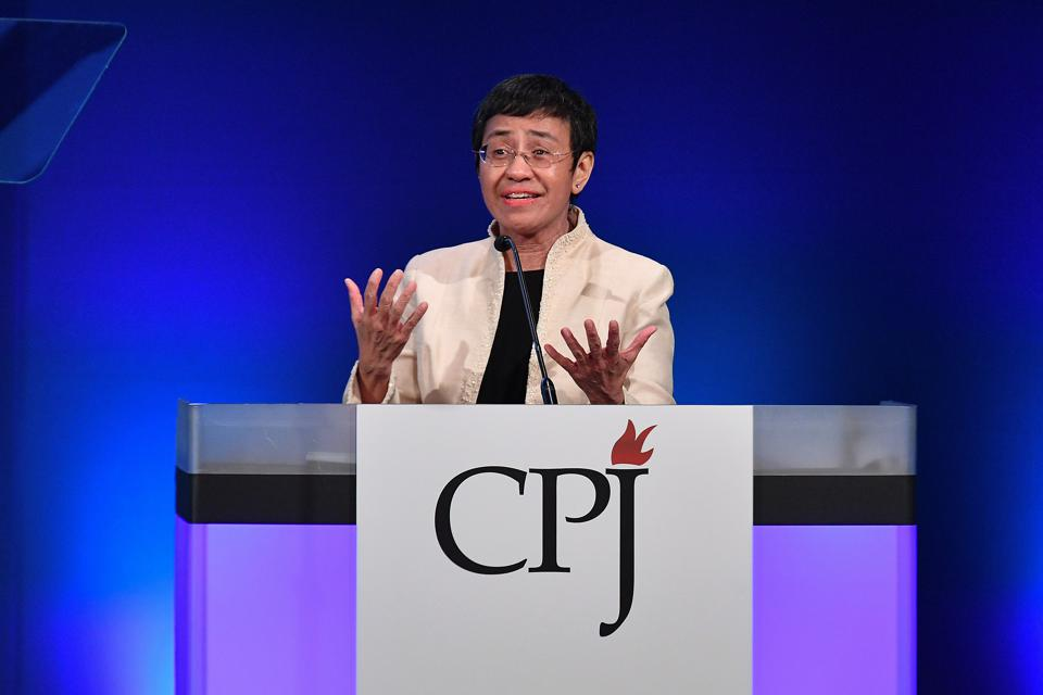 Maria Ressa at Committee To Protect Journalists Hosts International Press Freedom Awards