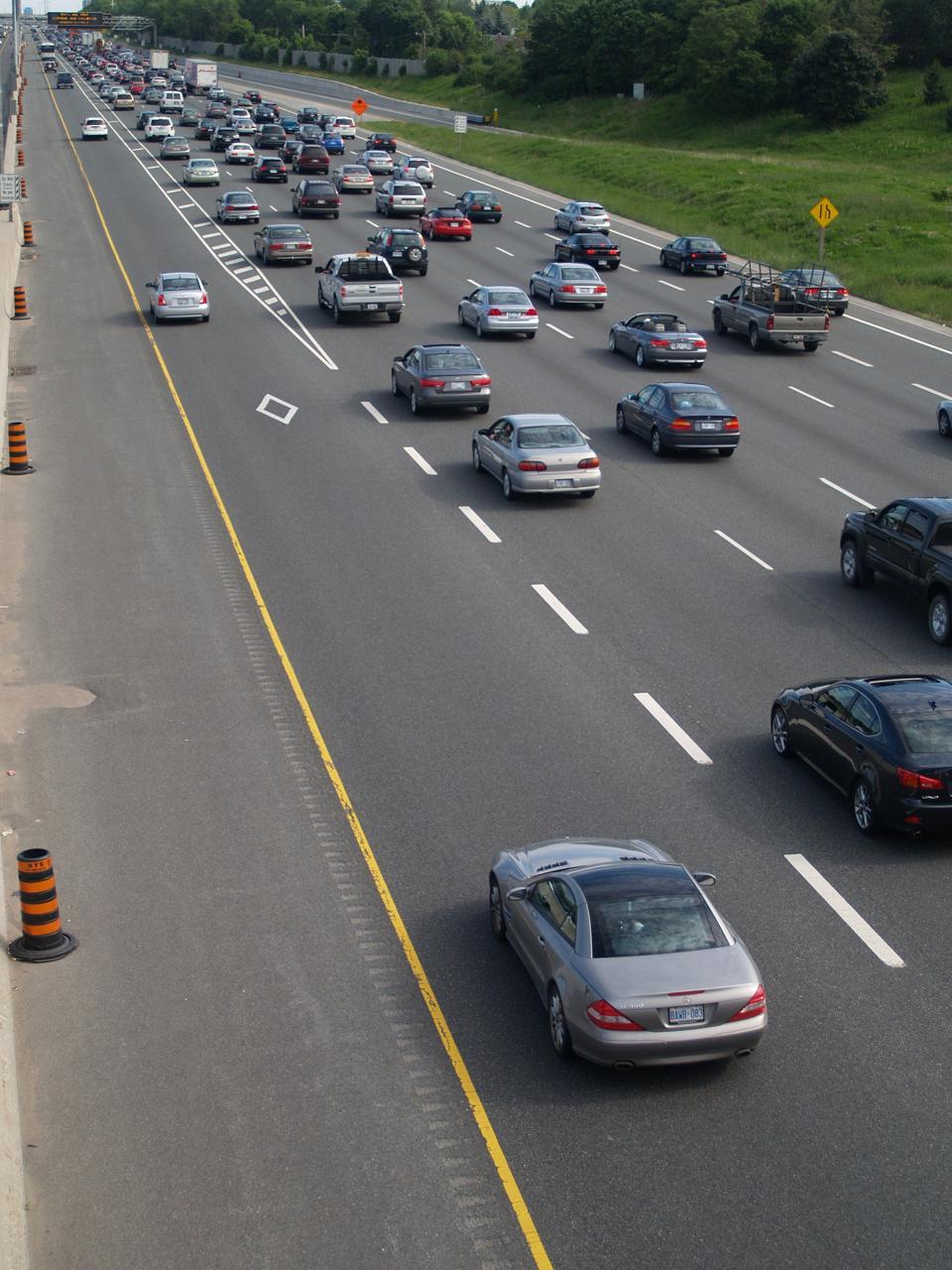 Traffic jam in Ontario, Canada