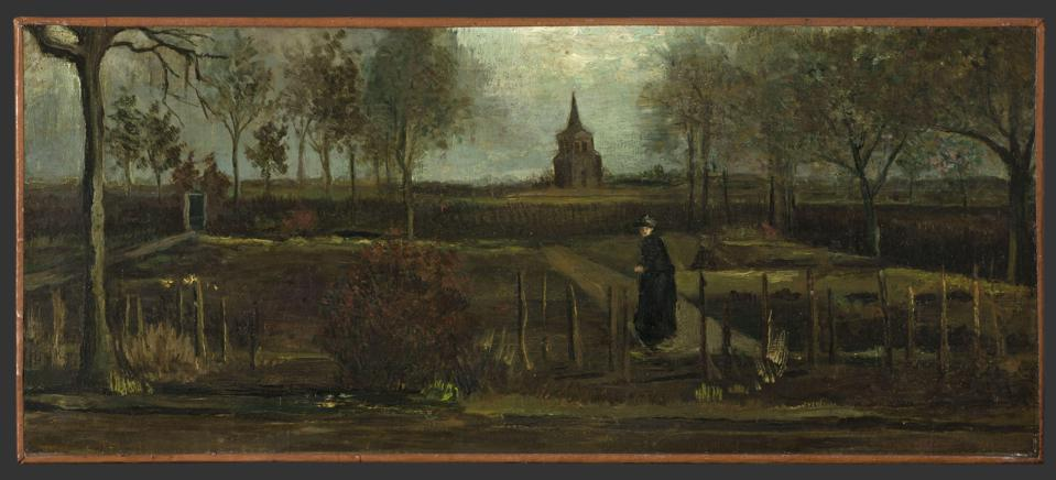 Vincent van Gogh, The Parsonage Garden at Nuenen in Spring, 1884, Groninger Museum, loan from Municipality of Groningen