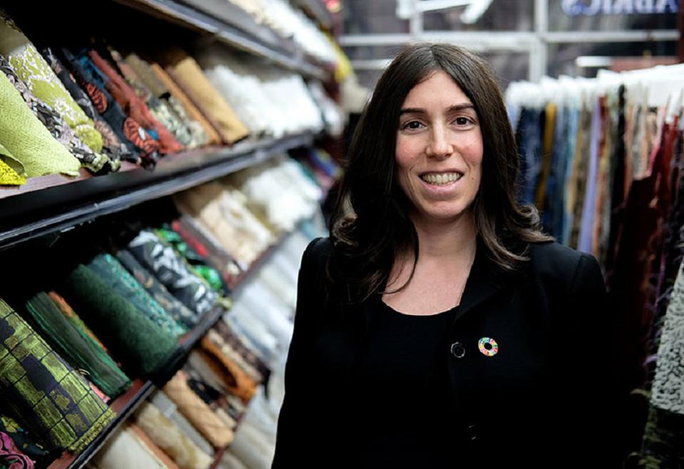 Stephanie Benedetto, founder of Queen of Raw, an online marketplace for unused textiles