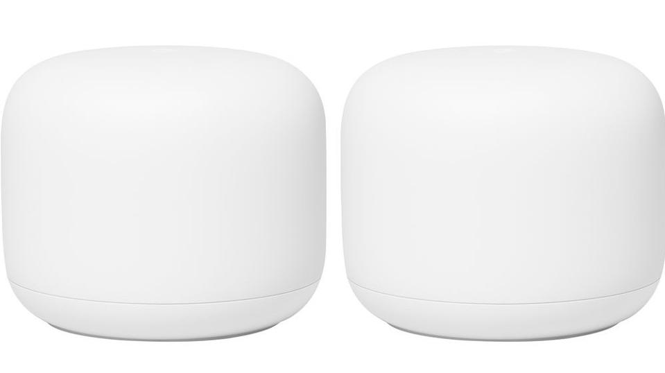 Google Nest Wi-Fi router and one point.