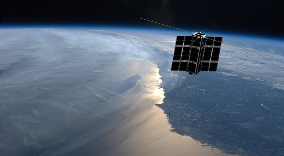 Artist's impression of one of Spire Global's Lemur satellites.