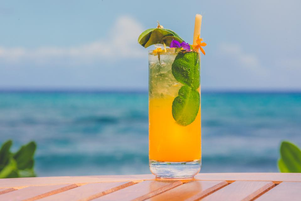 Tropical cocktail.