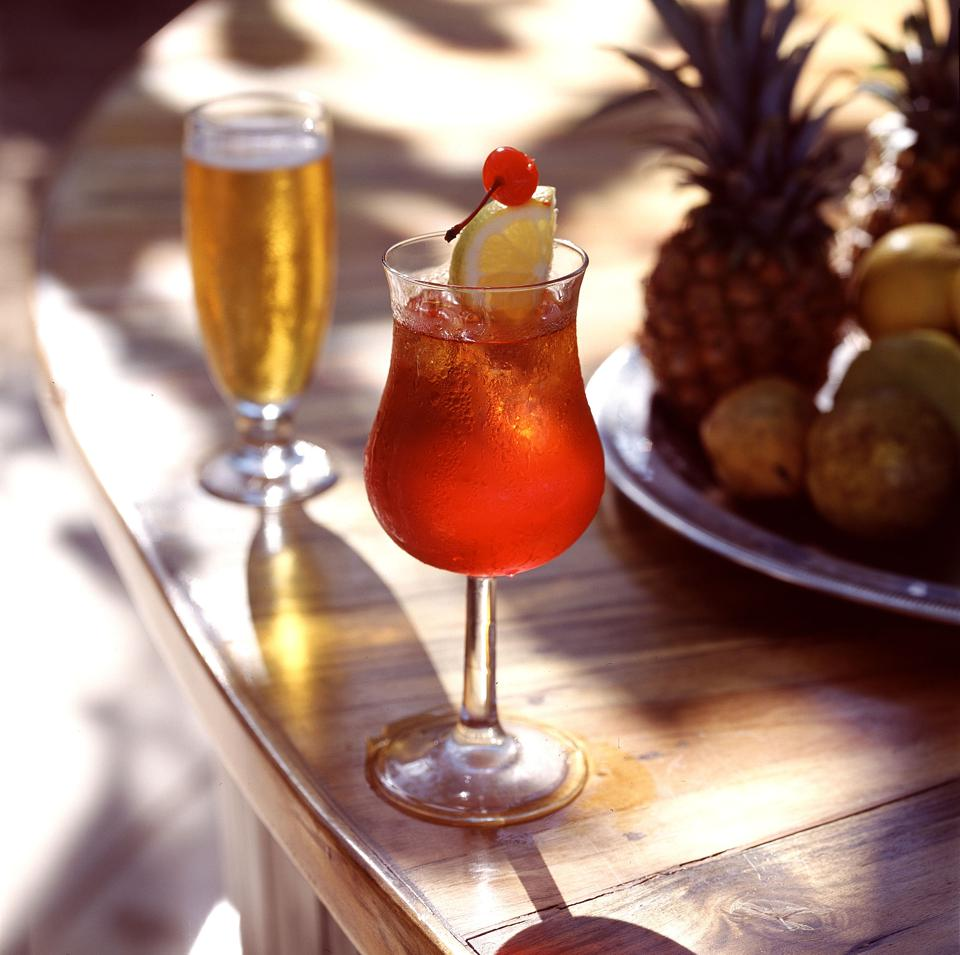 A rum punch cocktail