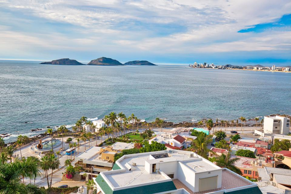 Panoramic view of the Mazatlan Old City, Mexico